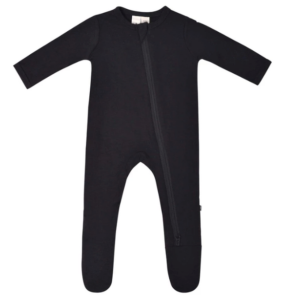 Kyte Bamboo Zip Sleeper - Midnight Black 0-12m