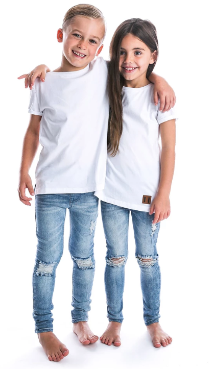 Beau Hudson - Unisex Distressed Denim Jegs