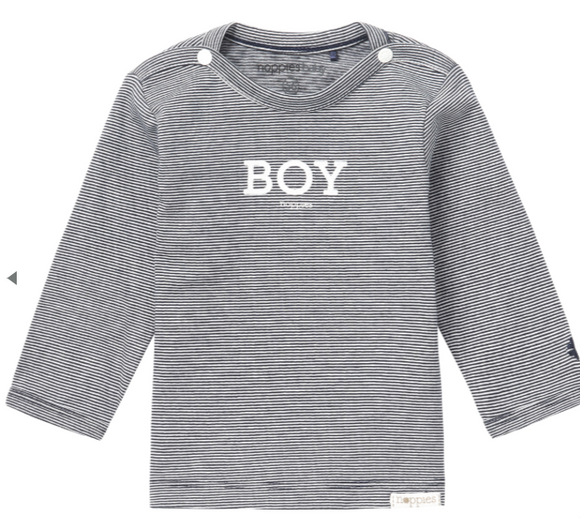 noppies - 'boy' black/white ls 0-1m