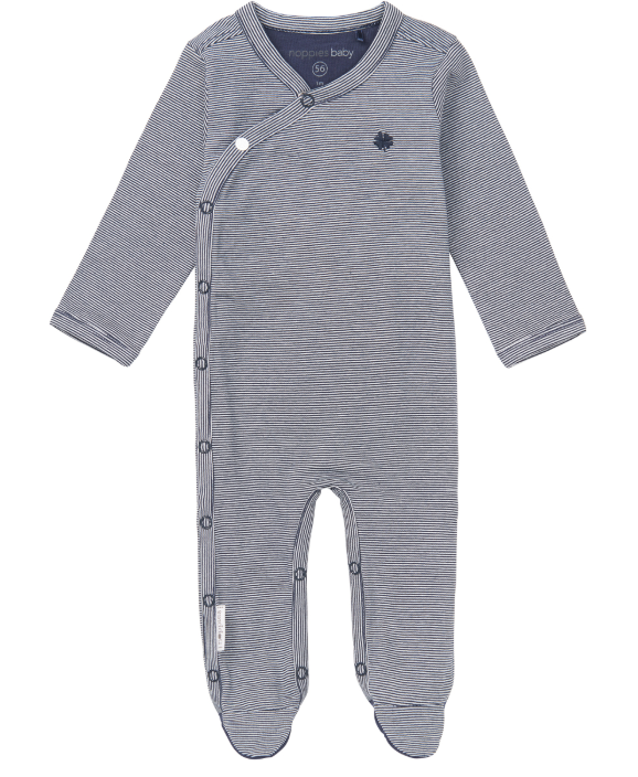 noppies - navy richie playsuit (2-4m)