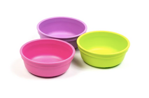 Replay Bowls - Lime Green, Bright Pink, Purple