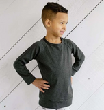 Little & Lively - Bamboo/Cottom Pullovers (6m-6T) Charcoal