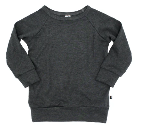 Little & Lively - Bamboo/Cottom Pullovers Charcoal 6m-6T