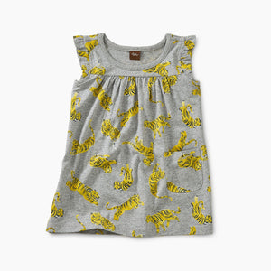 Tea - Tossed Tigers Mighty Mini Dress 3-9m