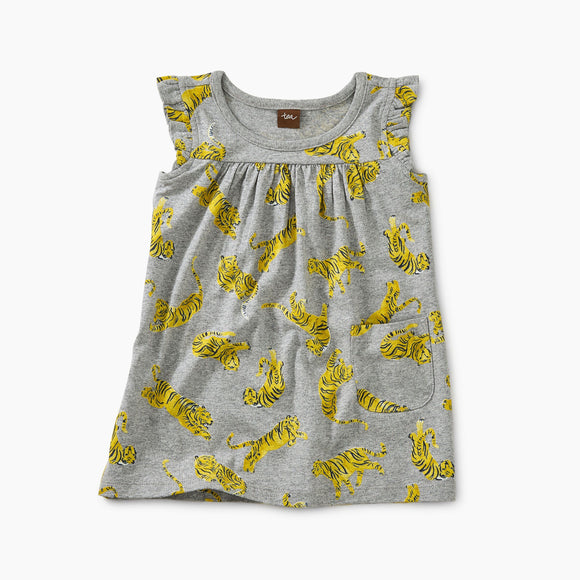 Tea - Tossed Tigers Mighty Mini Dress (Sizes 3m - 4T)