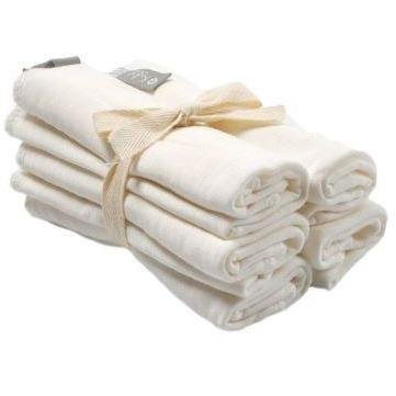 5-pack Bamboo Washcloth - Cloud White