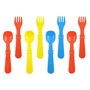Replay - Primary Red, Yellow, Sky Blue Utensil Set