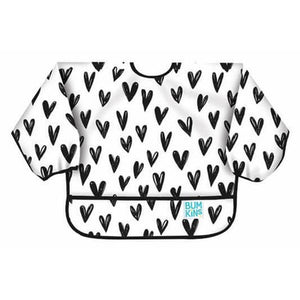 Bumkins - Hearts Sleeved Bib