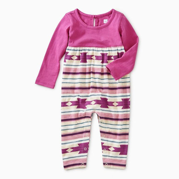 Tea - Baby Crystal Geo Two Tone Romper (0-18m)