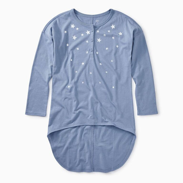 Tea - Metallic Star Hi-Lo Henley Top Sizes 7 - 16