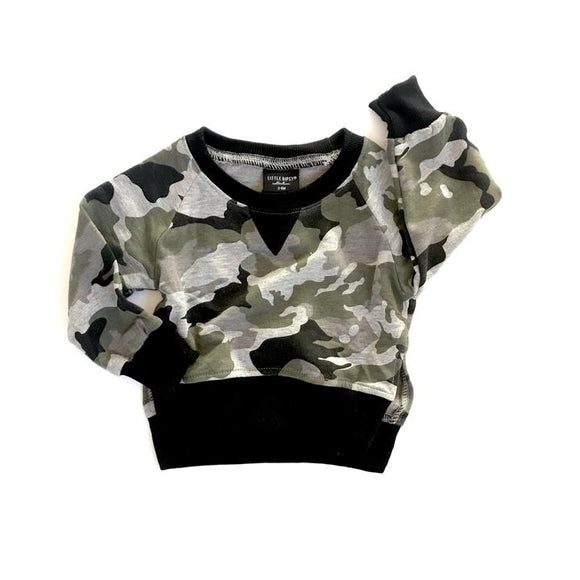 Little Bipsy Unisex Camo Pullover 12m-5T