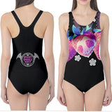 Die Chromaberry Black One Piece Swimsuit up to 5XL