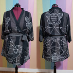 Cicadamancy Black Chiffon Robe