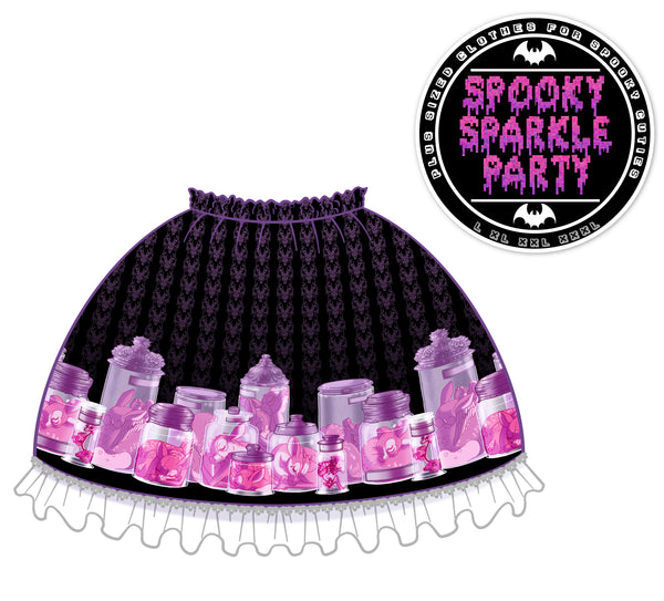 Limited Pre-Order: Cervine Dreams Skirt Violet