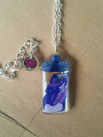 Cervine Dreams  Necklace Blue