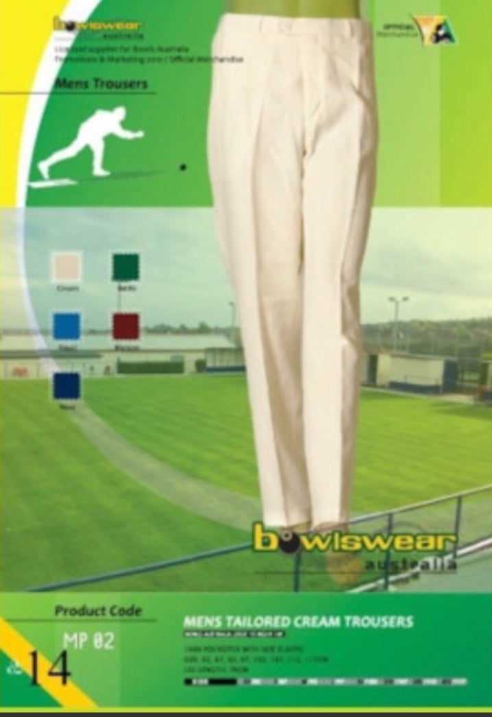 Bowls Wear Australia Flexi Waist Trousers