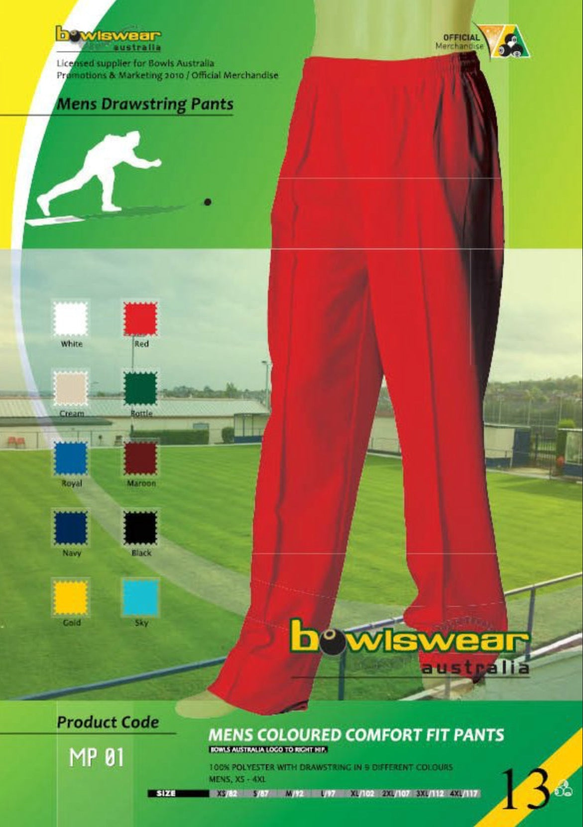 Men's Bowlswear Australia Drawstring Pants
