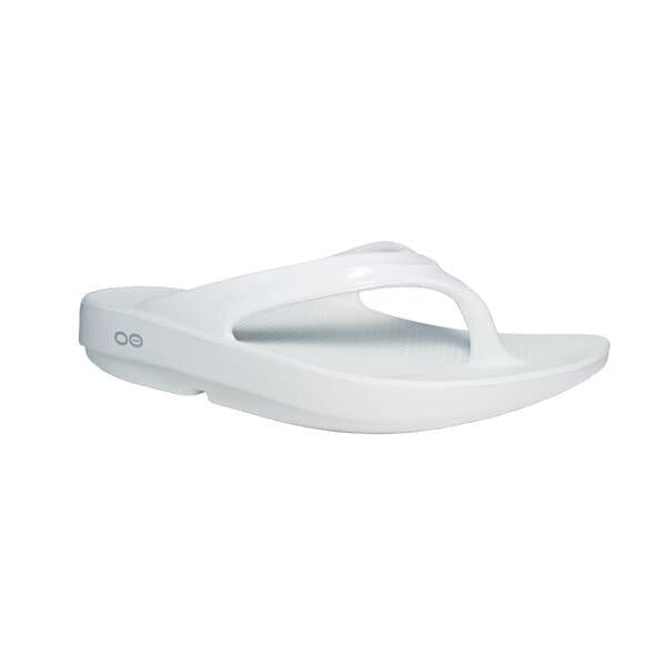 OOFOS OOlala Unisex Thongs White