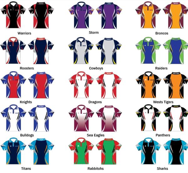 Unisex Rugby League Tournament Shirts