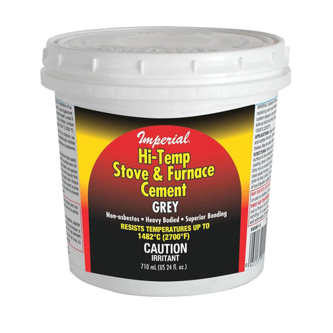 Imperial Hi Temp Stove & Furnace Cement, Grey