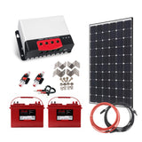 Off Grid Solar Kit - 300W X 1 Panel Setup - 12/24V