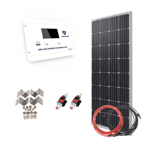 Off Grid Solar Kit - 160W X 1 Panel Setup - 12V