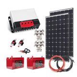 Off Grid Solar Kit - 300W X 2 Panel Setup - 12/24V