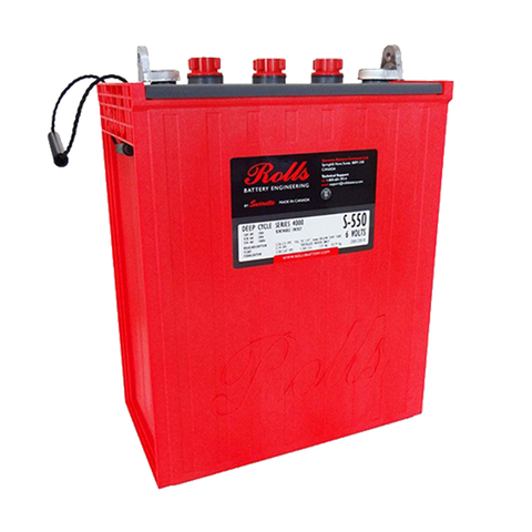 Surrette Rolls S-550 6V 428 AH Flooded Battery