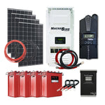 Off Grid Solar Kit - 300W X 4 Panel Setup - 24V