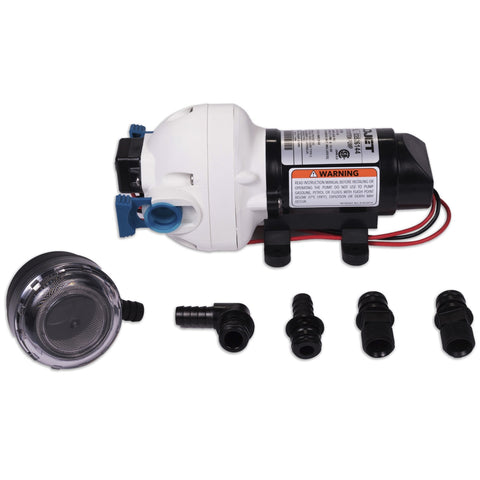 Flojet 2.9 GPM 50 PSI Water Pump & Flojet Strainer Bundle