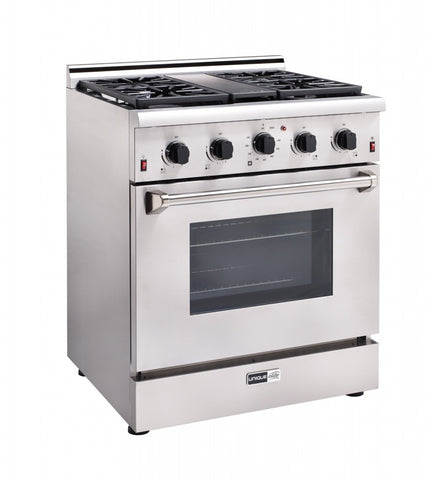 "Unique Elite 30"" On-Grid Propane Range"