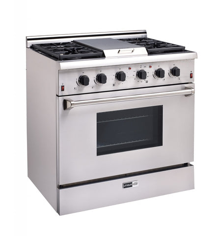 "Unique Elite 36"" On-Grid Propane Range"