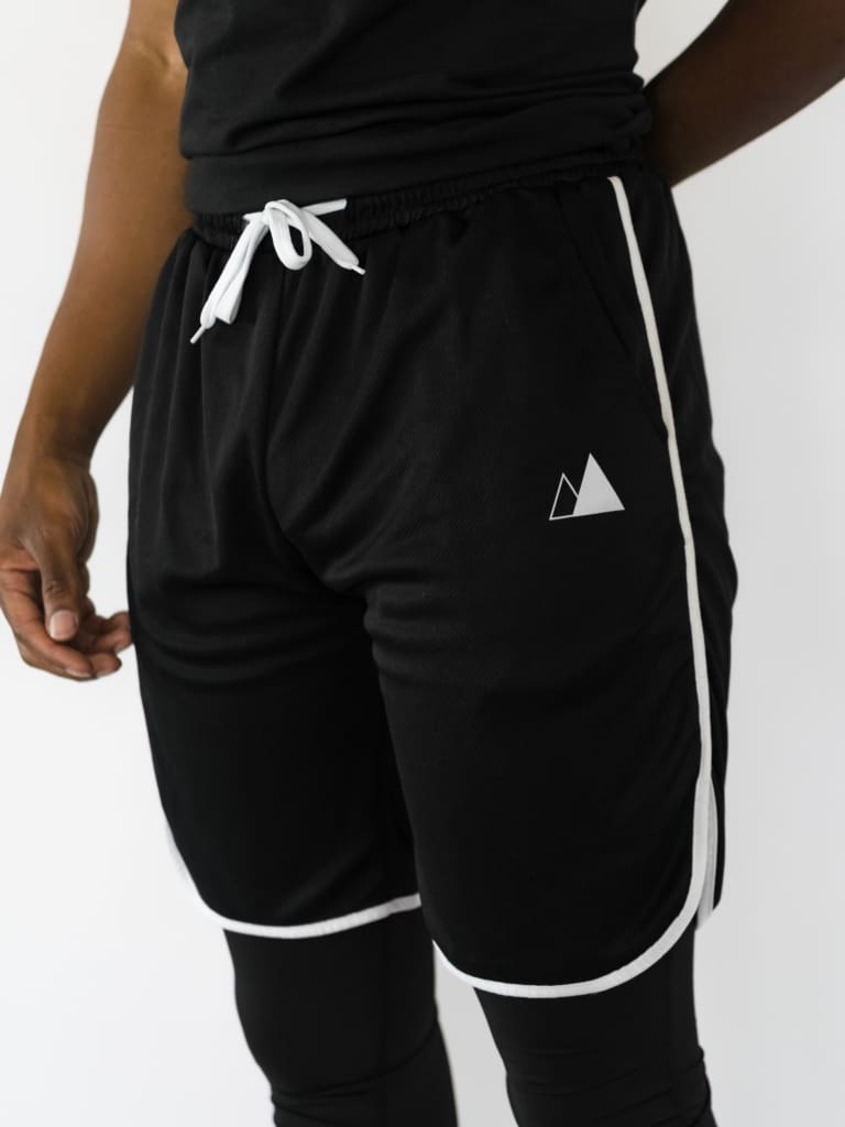 Mens Mesh Shorts - White