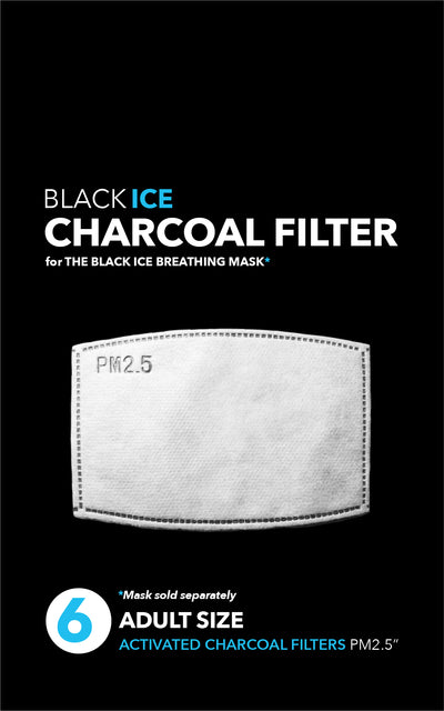 Activated Charcoal Filter - 6 PACK for the Breathing Mask