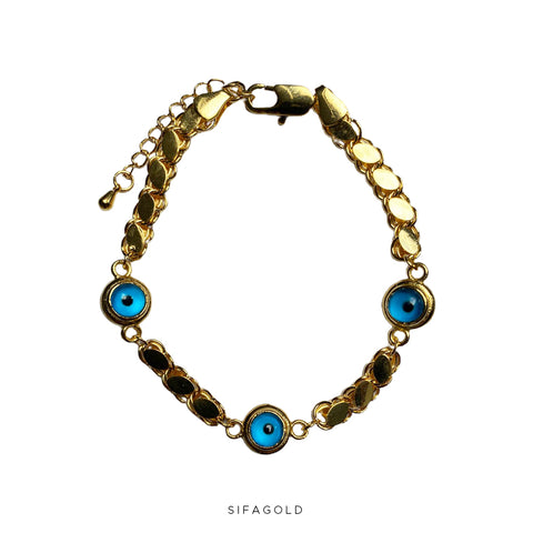Blue Eye Pullu 22k Goldplated