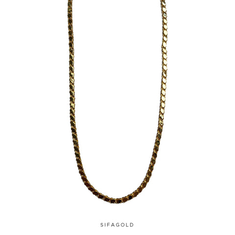 Pullu Ketting 22k Goldplated