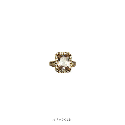 Diamond Ring 18k Goldplated
