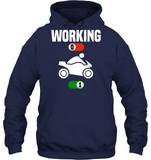 Working Job Off Motorcycle Motorbike Sport On Gift Shirt