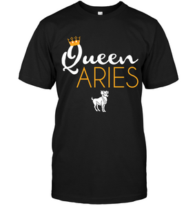 Queen Aries Tee Zodiac March April Birthday Gift Shirt