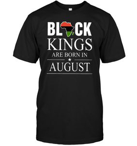 Black Kings Are Born In August Birthday Shirt