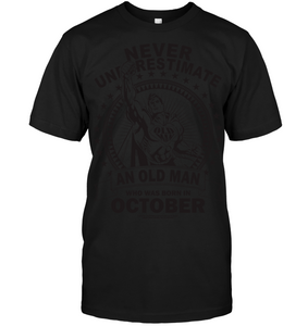 7935 An Old Man Who Was Born In October Shirt