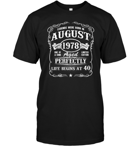 Born In August 1978   Legends Were Born In August Shirt