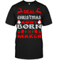 Real Christmas Aunt Born In March Shirt