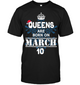 Christmas Queens Are Born On March 10 Shirt