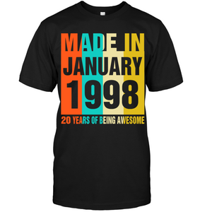 Retro January 1998 20 Years Of Being Awesome Shirt