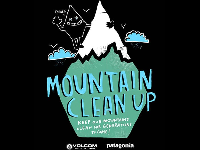 Patagonia x Volcom Mountain Clean Up