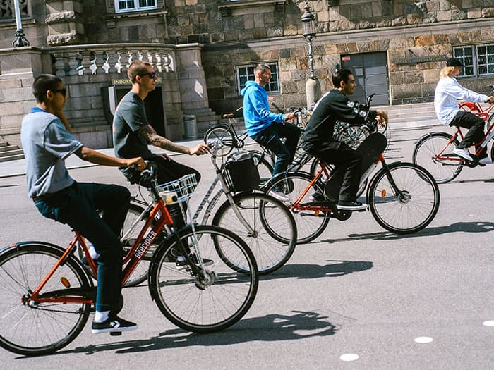 Riding Bikes Through Copenhagen W/ Rune Glifberg, Alec Majerus, Louie Lopez and Collin Provost