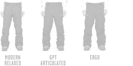 Mens Snow Pants Modern Articulated Fits