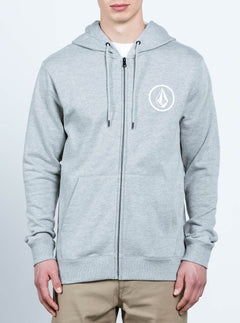 Stone Zip - Heather Grey