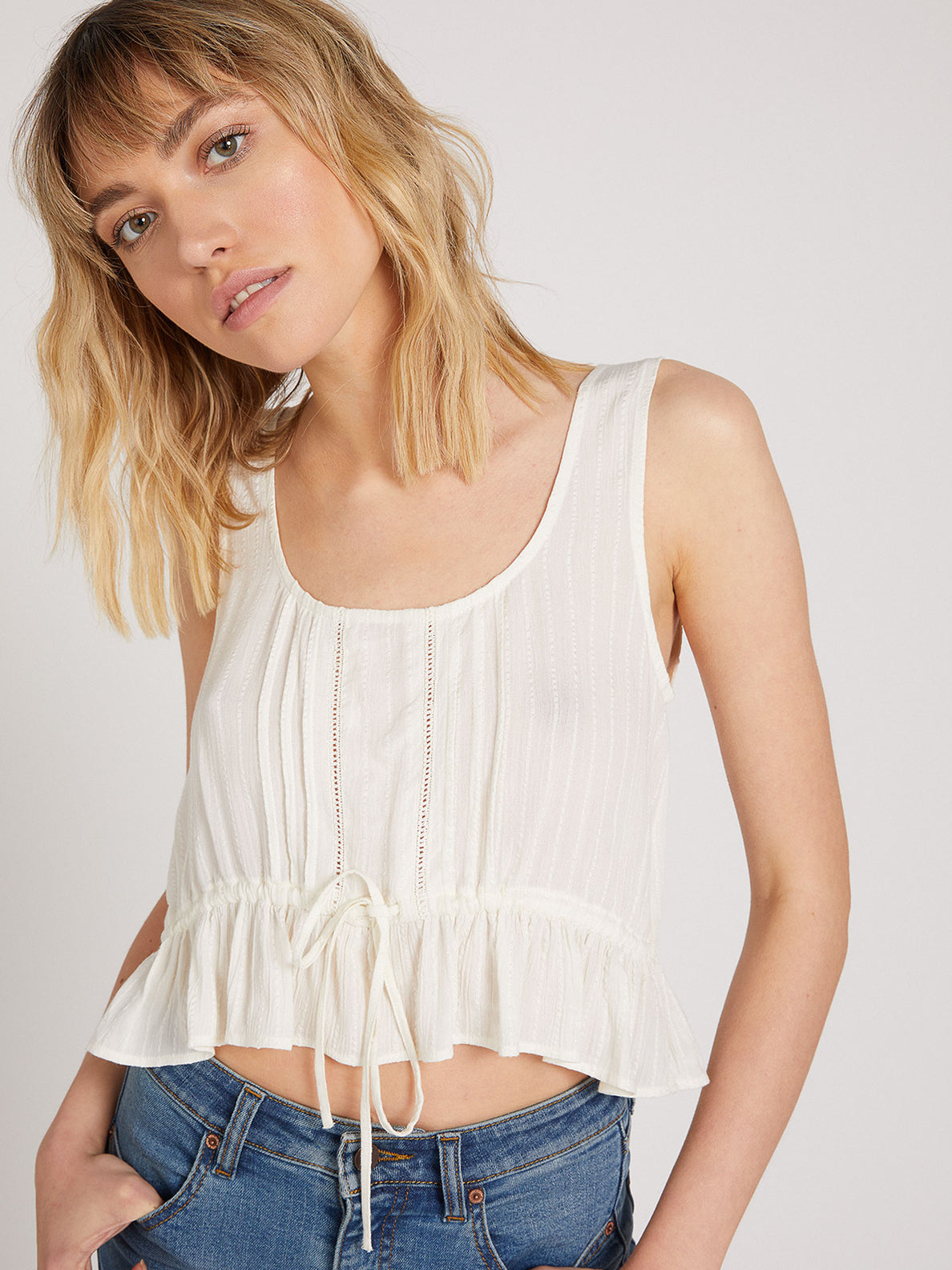 Anytime N Place Cami White (B0422001_WHT) [07]
